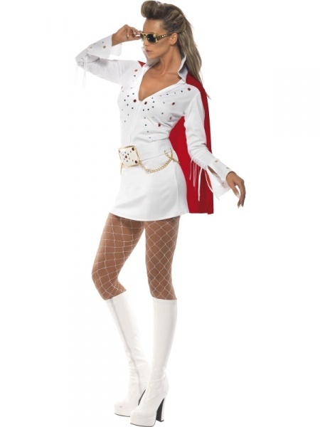 elvis viva las vegas costume white and red halloween